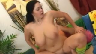 Over-sized pussy smasher fits to the balls inside of Shione Coopers slit